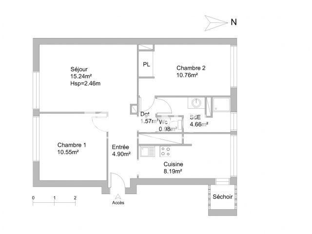 Appartement meubl 3 pi ces louer toulouse 31300 for Location meuble toulouse
