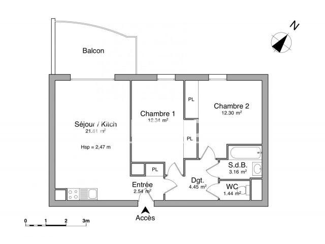 appartement 3 pi ces louer la seyne sur mer 83500 m2 foncia. Black Bedroom Furniture Sets. Home Design Ideas