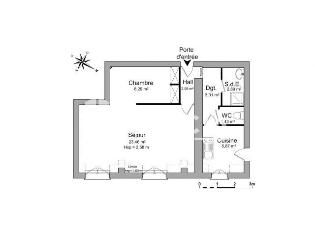 Appartement à louer, Paris (75008)