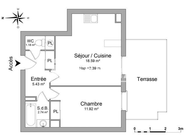 Appartement 2 pi ces louer metz 57000 56 7 m2 foncia - Refus location appartement ...