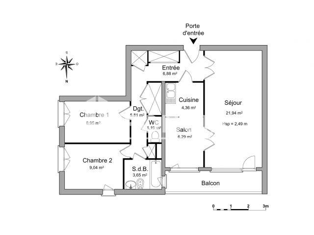 Appartement 3 pi ces louer firminy 42700 m2 foncia - Refus location appartement ...