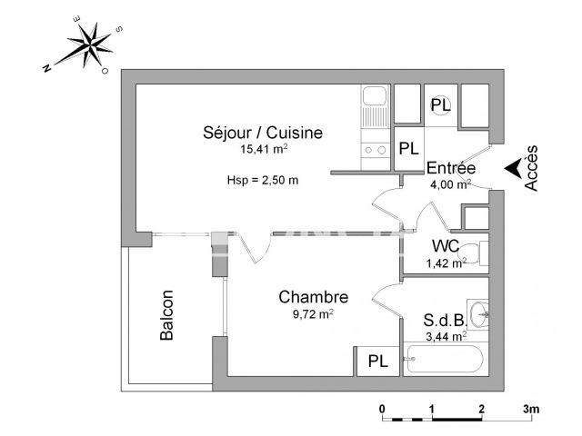 appartement 2 pi ces louer valenciennes 59300 33. Black Bedroom Furniture Sets. Home Design Ideas