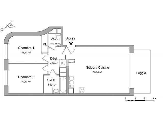 Appartement à louer, Lyon (69002)