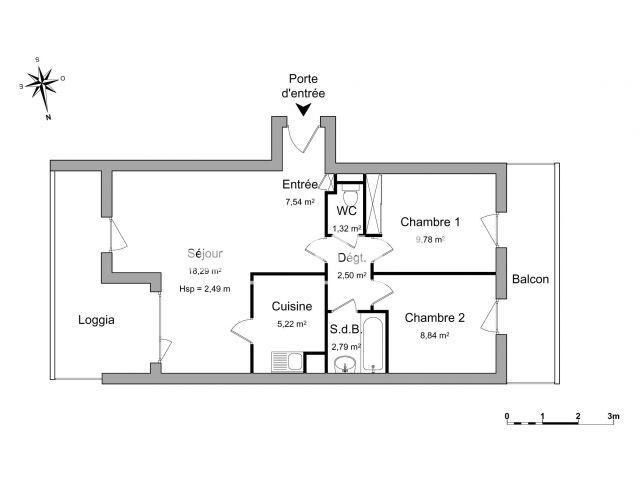 Appartement 3 pi ces louer chartres 28000 m2 foncia - Refus location appartement ...