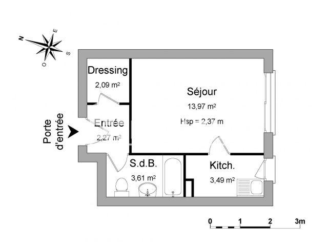 Appartement à louer, Paris (75019)
