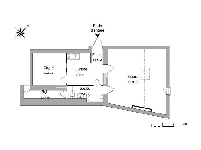 appartement meubl 1 pi ce louer nimes 30000 m2 foncia. Black Bedroom Furniture Sets. Home Design Ideas