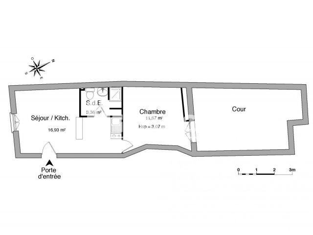 Appartement meubl 2 pi ces louer bordeaux 33000 for Location meuble bordeaux