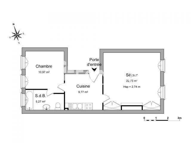 appartement meubl 2 pi ces louer honfleur 14600 m2 foncia. Black Bedroom Furniture Sets. Home Design Ideas