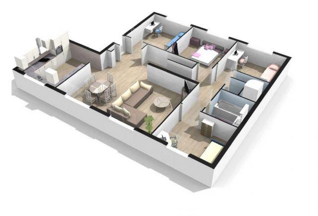 Achat appartement 5 pi ces ou plus tours 37 foncia for Salon rochepinard tours