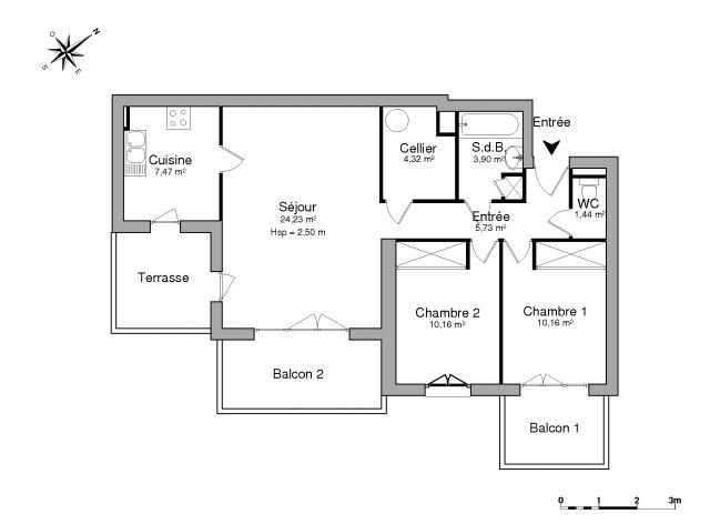 Appartement à louer sur Mios