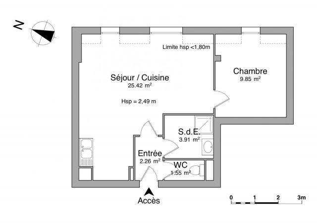 Appartement à louer sur Fougeres