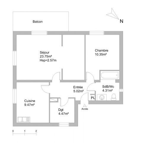 appartement à louer sur gaillard