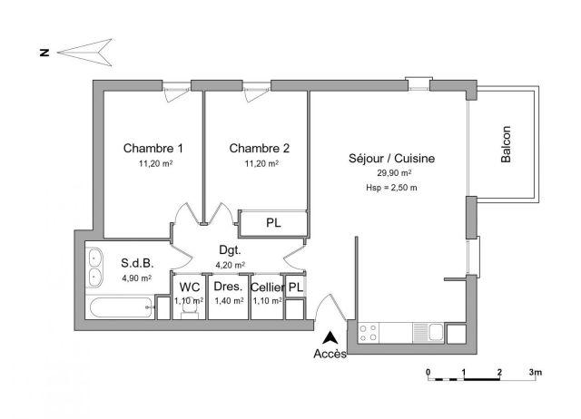 Appartement à louer sur Cauderan
