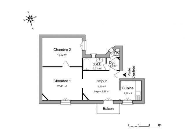 Appartement à louer sur Enghien-les-bains