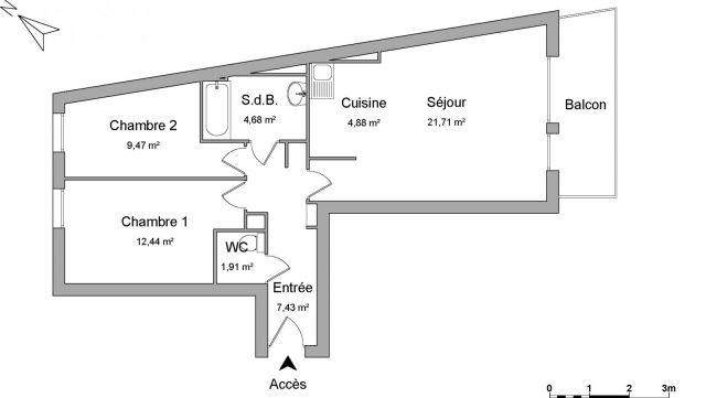 appartement à louer sur domont