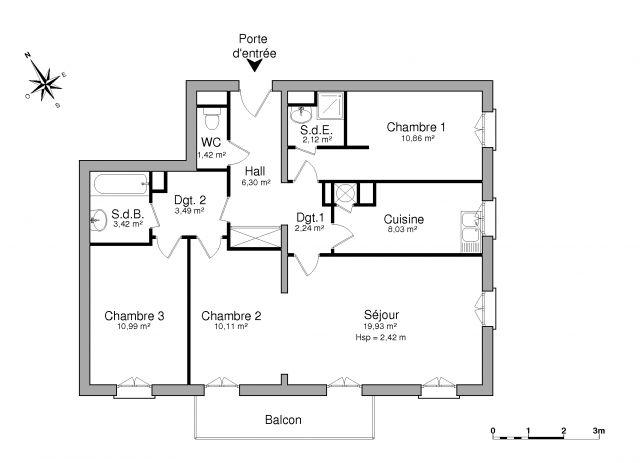 appartement à louer sur saint-gratien