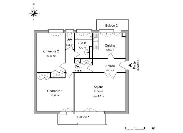 Appartement à louer sur Orgeval