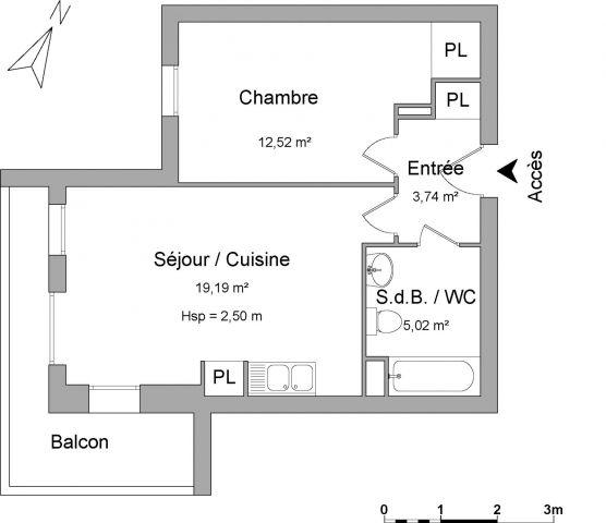 appartement à louer sur montevrain