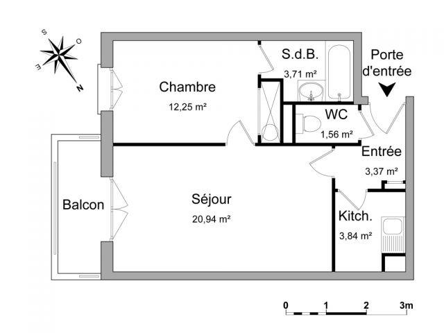 Appartement à louer sur Saint Ouen L'aumone