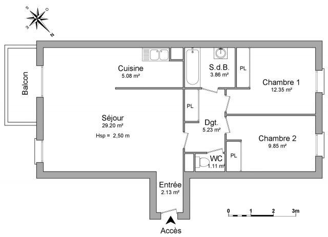 Appartement à louer sur Etampes