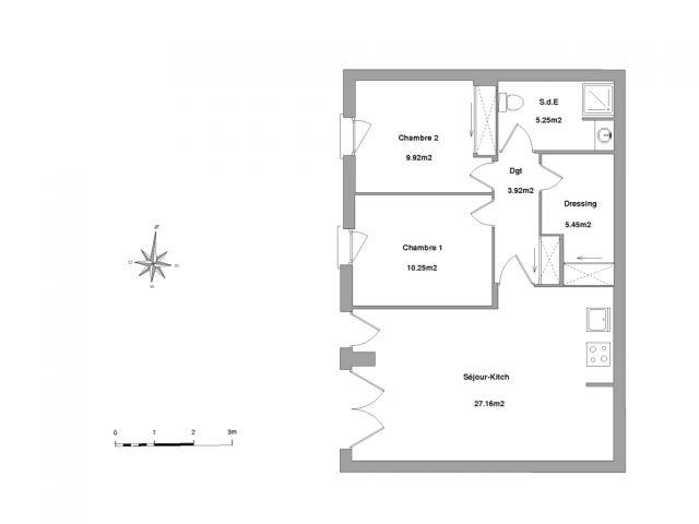 Appartement à louer sur Poulx