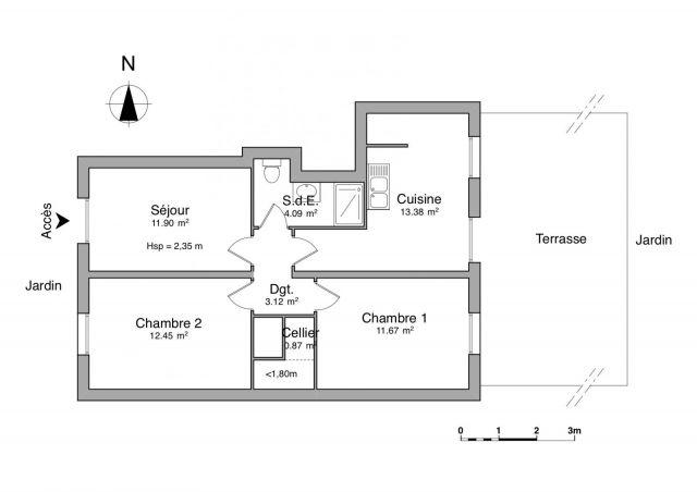 appartement à louer sur raphele les arles