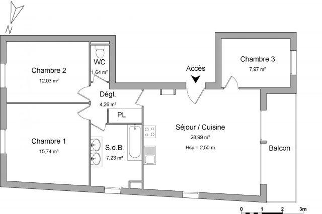 Appartement à louer sur Saint Max