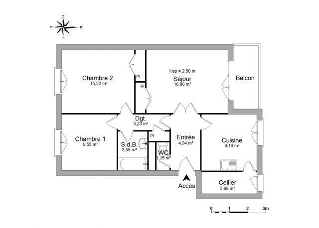 Appartement à louer sur Polliat