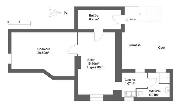 Appartement à louer sur Serviers La Baume