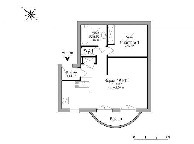 Appartement à louer sur Corneilla La Riviere