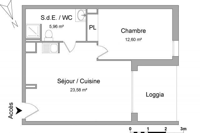 Appartement à louer sur Saint Martin De Seignanx