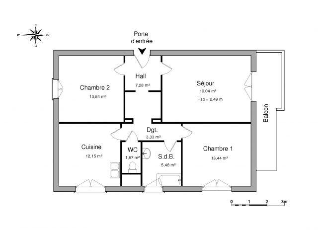 Appartement à louer sur Fegersheim