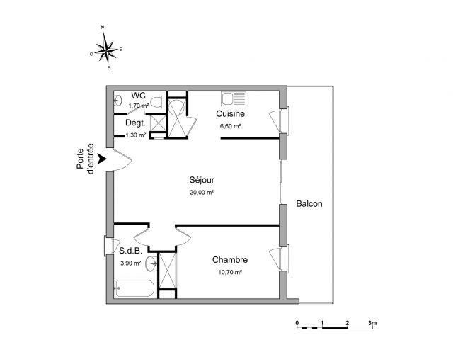 Appartement à louer sur Saint Gilles