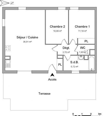 Appartement à louer sur Blanquefort