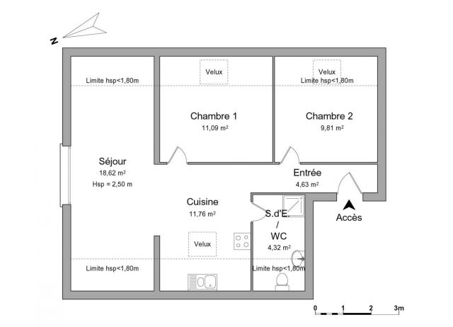 Appartement à louer sur Avricourt