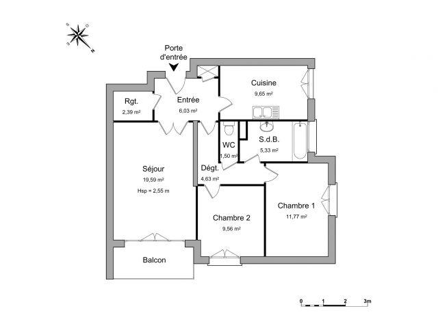Appartement à louer sur Saint Romain En Gal