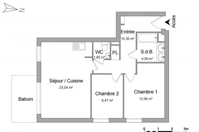 appartement à louer sur saint apollinaire