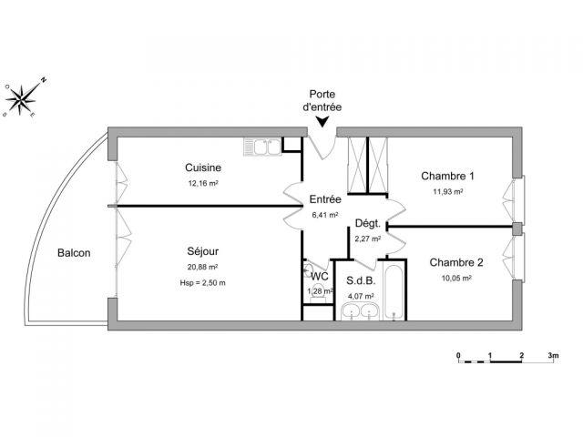 Appartement à louer sur Metz-queuleu