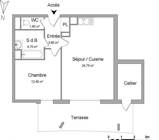 Appartement à louer sur Castelnau Le Lez