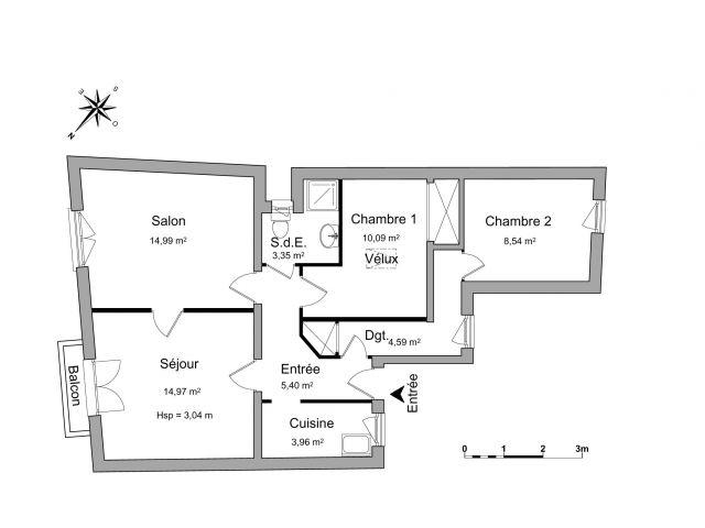 appartement à louer sur vandoeuvre