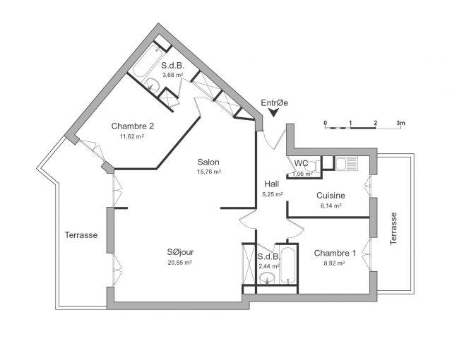 Appartement à louer sur Le Cannet
