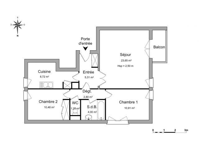 Appartement à louer sur Chatillon Sous Bagneux
