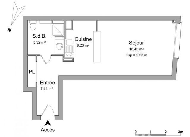 Appartement à louer sur Saint Denis