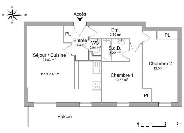 Appartement à louer sur Essey Les Nancy