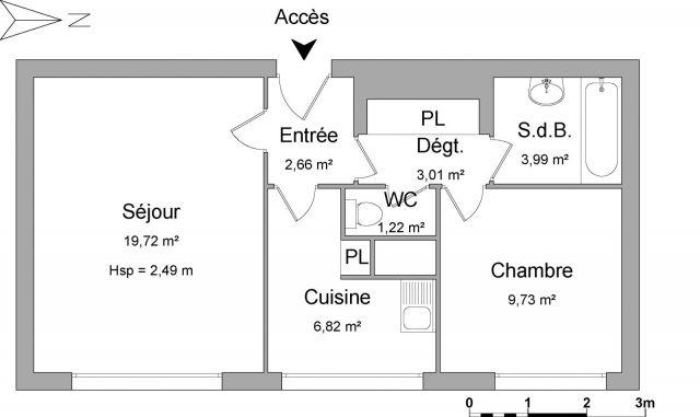 Appartement à louer sur Saint-denis