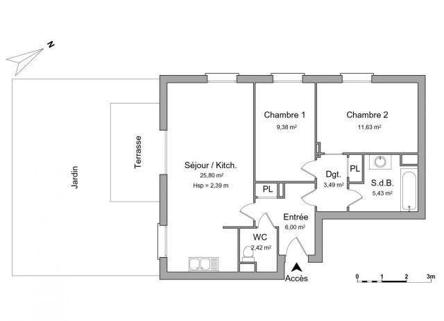 Appartement à louer sur Nanteuil Les Meaux