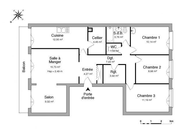 Appartement à louer sur Chilly Mazarin