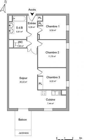 Appartement à louer sur Le Petit Quevilly
