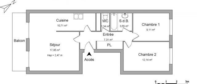 Appartement à louer sur La Trinite