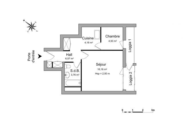 appartement à louer sur la chapelle st mesmin